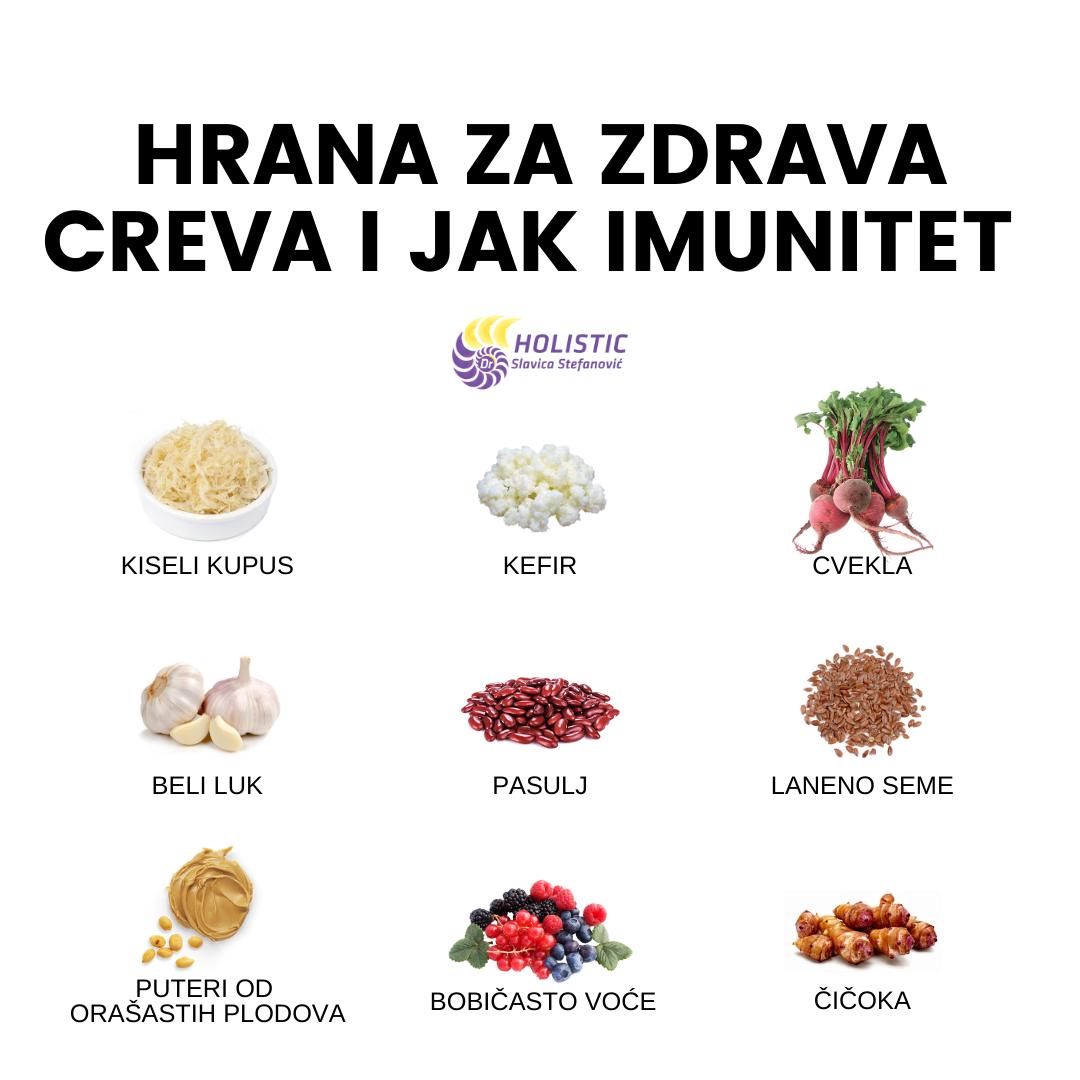 hrana za zdrava creva i jak imunitet