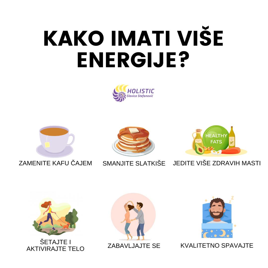 kako imati vise energije